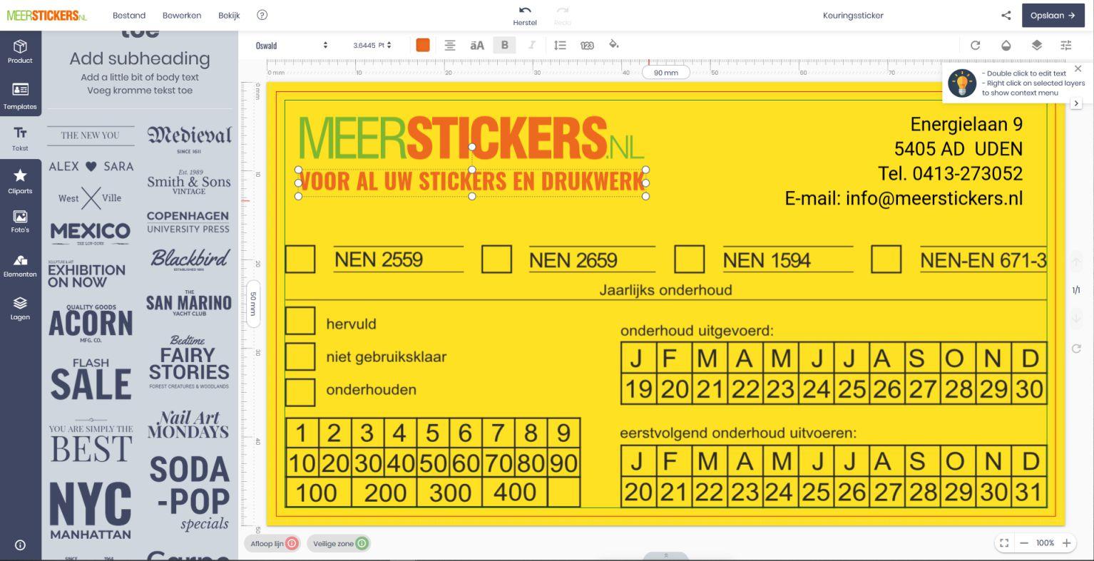 Ontwerp je stickers online