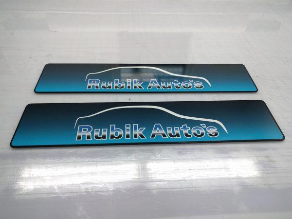 Showroomplaten Rubik Autos