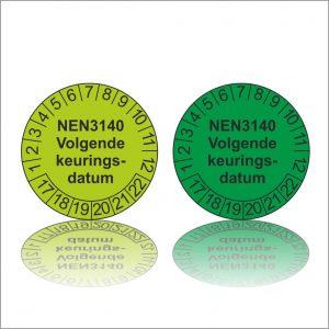 Keuringssticker NEN 3140 volgende keuringsdatum product