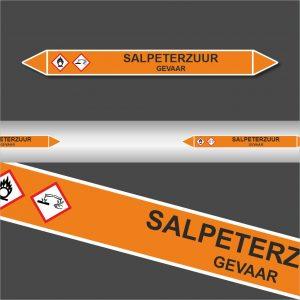 Leiding Markeringen Stickers Salpeterzuur (Zuren)