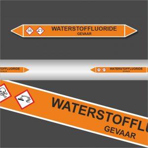 Leiding Markeringen Stickers Waterstoffluoride (Zuren)