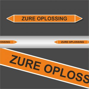 Leiding Markeringen Stickers Zure oplossing (Zuren)