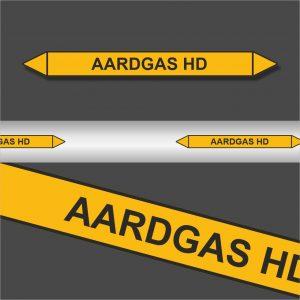 Leidingstickers Leidingmarkering Aardgas HD (Gassen)