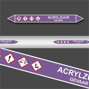 Leidingstickers Leidingmarkering Acrylzuur (Basen)