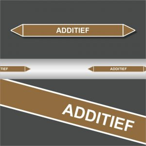 Leidingstickers Leidingmarkering Additief (Ontvlambare vloeistoffen)