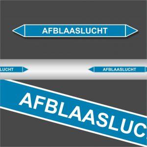Leidingstickers Leidingmarkering Afblaaslucht (Lucht)