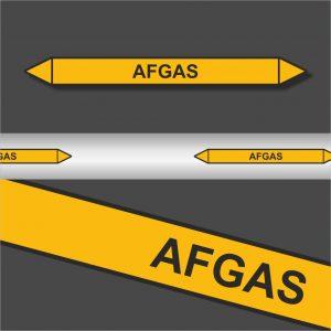 Leidingstickers Leidingmarkering Afgas (Gassen)
