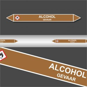 Leidingstickers Leidingmarkering Alcohol
