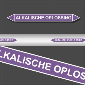 Leidingstickers Leidingmarkering Alkalische oplossing (Basen)