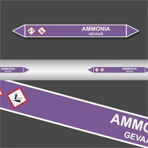 Leidingstickers Leidingmarkering Ammonia (Basen)