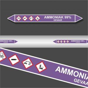 Leidingstickers Leidingmarkering Ammoniak 99% (Basen)