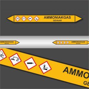 Leidingstickers Leidingmarkering Ammoniakgas (Gassen)