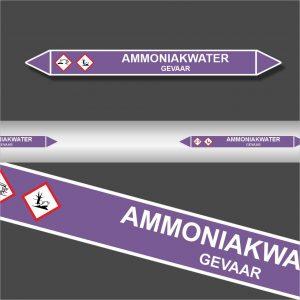 Leidingstickers Leidingmarkering Ammoniakwater (Basen)