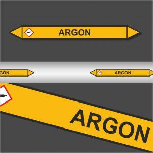Leidingstickers Leidingmarkering Argon (Gassen)