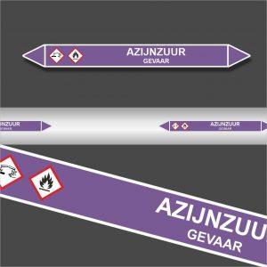 Leidingstickers Leidingmarkering Azijnzuur (Basen)