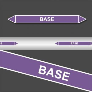 Leidingstickers Leidingmarkering Base (Basen)