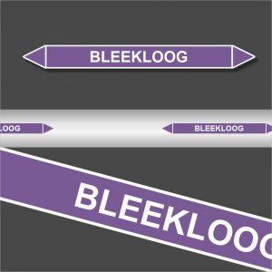 Leidingstickers Leidingmarkering Bleekloog (Basen)