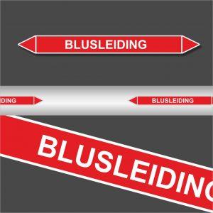 Leidingstickers Leidingmarkering Blusleiding (Blusleidingen)