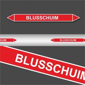 Leidingstickers Leidingmarkering Blusschuim (Blusleidingen)