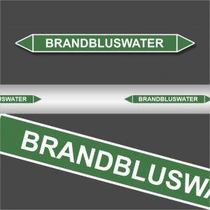 Leidingstickers Leidingmarkering Brandbluswater (Water)