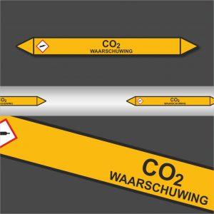 Leidingstickers Leidingmarkering CO2 (Gassen)