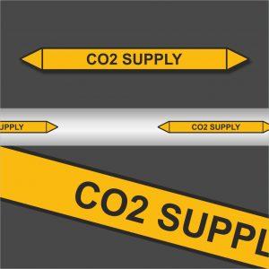 Leidingstickers Leidingmarkering CO2 Supply (Gassen)