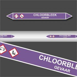 Leidingstickers Leidingmarkering Chloorbleek (Basen)