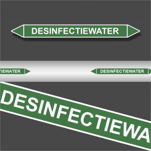 Leidingstickers Leidingmarkering Desinfectiewater (Water)
