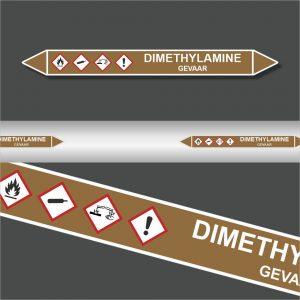 Leidingstickers Leidingmarkering Dimethylamine (Ontvlambare vloeistoffen)