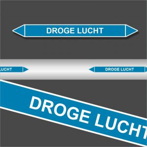 Leidingstickers Leidingmarkering Droge Lucht (Lucht)