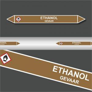 Leidingstickers Leidingmarkering Ethanol (Ontvlambare vloeistoffen)