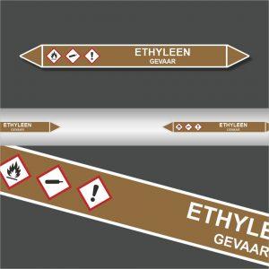Leidingstickers Leidingmarkering Ethyleen (Ontvlambare vloeistoffen)