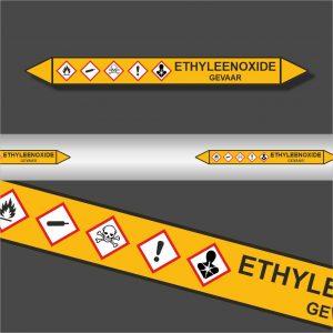 Leidingstickers Leidingmarkering Ethyleenoxide (Gassen)
