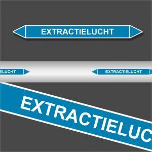 Leidingstickers Leidingmarkering Extractielucht (Lucht)