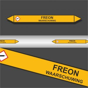 Leidingstickers Leidingmarkering Freon (Gassen)