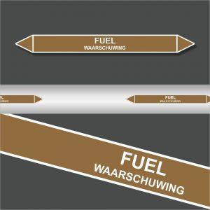 Leidingstickers Leidingmarkering Fuel (Ontvlambare vloeistoffen)