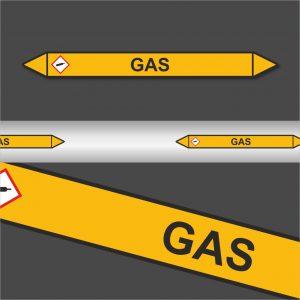 Leidingstickers Leidingmarkering Gas (Gassen)
