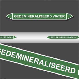 Leidingstickers Leidingmarkering Gedemineraliseerd water (Water)