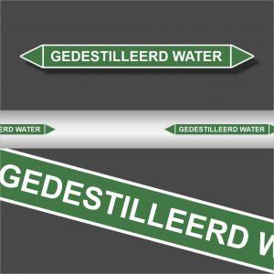 Leidingstickers Leidingmarkering Gedestileerd water (Water)