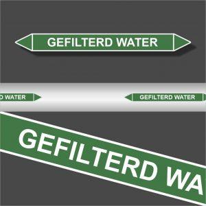 Leidingstickers Leidingmarkering Gefilterd water (Water)