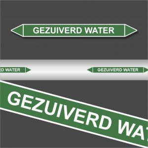 Leidingstickers Leidingmarkering Gezuiverd water (Water)