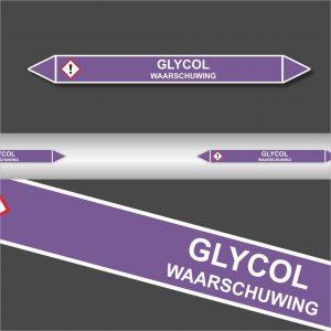Leidingstickers Leidingmarkering Glycol (Basen)