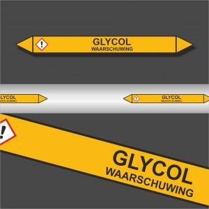 Leidingstickers Leidingmarkering Glycol (Gassen)
