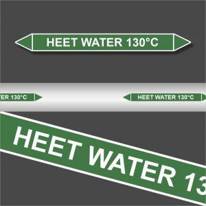 Leidingstickers Leidingmarkering Heet water 130 Graden (Water)