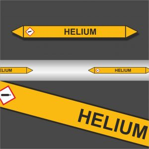 Leidingstickers Leidingmarkering Helium (Gassen)