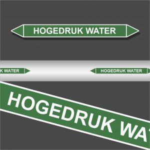Leidingstickers Leidingmarkering Hogedruk water (Water)