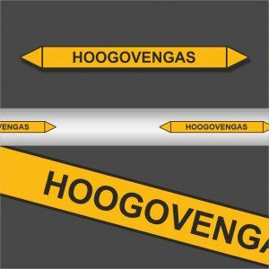 Leidingstickers Leidingmarkering Hoogovengas (Gassen)