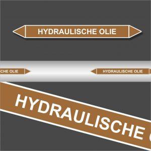 Leidingstickers Leidingmarkering Hydraulische Olie (Ontvlambare vloeistoffen)