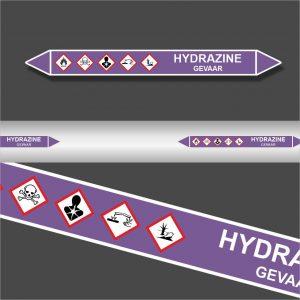 Leidingstickers Leidingmarkering Hydrazine (Basen)