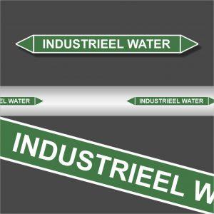 Leidingstickers Leidingmarkering Industrieel water (Water)
